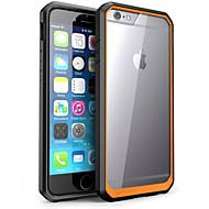Til Etui iPhone 6 Etui iPhone 6 Plus Støtsikker Gjennomsiktig Etui Bakdeksel Etui Ensfarget Hard PC til iPhone 6s Plus/6 Plus iPhone 6s/6