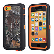 Podružnica kamuflaža udarce slučaj w / graditi u zaslon zaštitnik za iPhone 5c plastike + TPU poklopca s