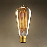 abordables Bombillas Incandescentes-1pc 40 W / 60 W B22 ST64 Blanco Cálido 2300 k Bombilla incandescente Vintage Edison 220-240 V / 220 V