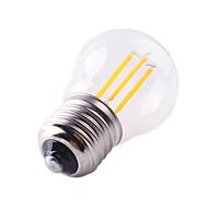 お買い得  -1個 4W 360lm E26 / E27 フィラメントタイプLED電球 G45 4 LEDビーズ COB 装飾用 温白色 クールホワイト 220-240V