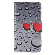 For Samsung Galaxy etui Kortholder Pung Med stativ Flip Etui Heldækkende Etui Hjerte Kunstlæder for Samsung Grand Prime