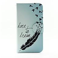 Недорогие Чехлы и кейсы для Galaxy А-Кейс для Назначение SSamsung Galaxy Кейс для  Samsung Galaxy Бумажник для карт со стендом Флип Магнитный С узором Чехол  Перья Кожа PU для