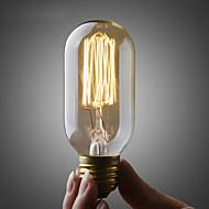 رخيصةأون -UMEI™ 1PC 40W E26/E27 T45 أبيض دافئ 2300 ك المتوهجة خمر اديسون ضوء لمبة أس 110-130V أس 220-240V V