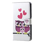 На все тело бумажник / Визитница Сова Искусственная кожа жесткий Для крышки случая HuaweiHuawei P9 / Huawei P8 / Huawei P8 Lite / Huawei