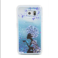Недорогие Чехлы и кейсы для Galaxy S-Кейс для Назначение SSamsung Galaxy Кейс для  Samsung Galaxy Движущаяся жидкость Кейс на заднюю панель Мультипликация ПК для S6 edge S6