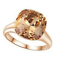 abordables Anillos-Mujer Cristal Diamante Sintético Legierung Anillo de declaración - Cuadrado Forma Geométrica Lujo Moda Rojo Champaña anillo Para Boda