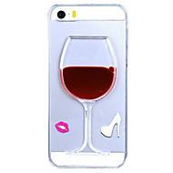 Недорогие Кейсы для iPhone 8 Plus-Кейс для Назначение iPhone 5 Apple iPhone 8 iPhone 8 Plus Кейс для iPhone 5 Движущаяся жидкость Прозрачный Кейс на заднюю панель 3D в