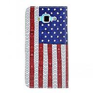 Для Кейс для  Samsung Galaxy Чехлы панели Бумажник для карт Кошелек со стендом Флип Чехол Кейс для Флаг Искусственная кожа для SamsungJ7
