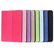 Недорогие Чехлы и кейсы для Galaxy Tab E 9.6-чехол для Samsung Galaxy Tab вкладка 9,7 вкладка 8,0 e 9,6 футляр с подставкой автоматический спящий / пробуждение флип чехлы для тела сплошной цвет
