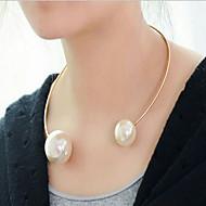 お買い得  -女性用 真珠 チョーカー / パールネックレス - 真珠 欧風, ファッション ゴールド, ホワイト ネックレス 用途