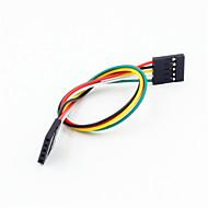 お買い得  Arduino 用アクセサリー-arduino-用メス延長ワイヤケーブル(20センチメートル)にデュポン5ピン2.54ミリメートルの女性