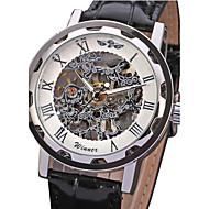 Недорогие Фирменные часы-WINNER Муж. Наручные часы / Механические часы С гравировкой PU Группа Роскошь Черный / Механические, с ручным заводом