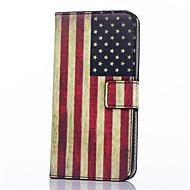 Для Кейс для  Samsung Galaxy Бумажник для карт / Кошелек / со стендом / Флип Кейс для Чехол Кейс для Флаг Искусственная кожа Samsung