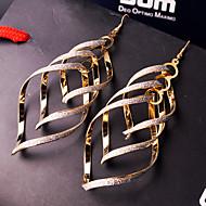 levne Šperky&Hodinky-Dámské Třásně Visací náušnice - Přizpůsobeno, Evropský, Prohlášení Stříbrná / Zlatá Pro Svatební / Párty / Zvláštní příležitosti