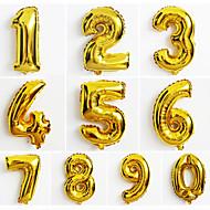 abordables Juguetes Clásicos-10pcs gran número de oro 0-9 globos año nuevo decoración de la boda la fiesta de Navidad con balón
