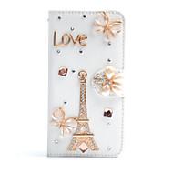 Для Samsung Galaxy Note Бумажник для карт / Стразы / со стендом / Флип Кейс для Чехол Кейс для Эйфелева башня Искусственная кожа Samsung