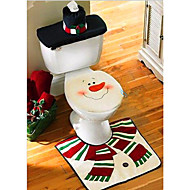 Christmas Washroom Decoration Santa Snowman Toilet Seat Cover