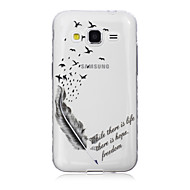 Для Кейс для  Samsung Galaxy Прозрачный / С узором Кейс для Задняя крышка Кейс для Перо TPU SamsungJ7 / J5 / J3 / J2 / J1 Ace / J1 /