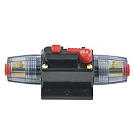 abordables Interruptores-audio Protección coche 80a línea de fusibles disyuntor de corriente continua 12v