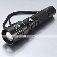 preiswerte Taschenlampen, Laternen & Lichter-5 LED Taschenlampen LED 1200 lm 5 Modus Cree XM-L T6 Zoomable- Stoßfest Wiederaufladbar Wasserfest Schlag-Fassung Taktisch Notfall