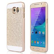 Недорогие Чехлы и кейсы для Galaxy S-Кейс для Назначение SSamsung Galaxy Кейс для  Samsung Galaxy Защита от удара Кейс на заднюю панель Сияние и блеск ПК для S6 edge plus S6