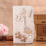 Для Кейс для  Samsung Galaxy Бумажник для карт / Стразы / Флип Кейс для Чехол Кейс для Сияние и блеск Искусственная кожа SamsungS7 edge /