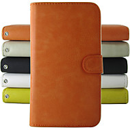 Недорогие Чехлы и кейсы для Galaxy Note 2-Кейс для Назначение SSamsung Galaxy Samsung Galaxy Note Бумажник для карт Кошелек со стендом Флип Чехол Сплошной цвет Кожа PU для Note 2