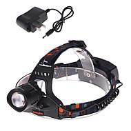 1 Headlamps Bike Lights Headlight LED 1200 lm 3 Mode Cree XM-L T6 Adjustable Focus Rechargeable Waterproof Strike Bezel Tactical