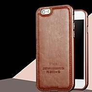 お買い得  -のために iPhone 5ケース Other ケース バックカバー ケース ソリッドカラー ハード PUレザー iPhone SE/5s/5