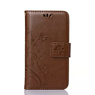 お買い得  携帯電話ケース-ケース 用途 Samsung Galaxy Samsung Galaxy ケース カードホルダー ウォレット スタンド付き フリップ エンボス加工 フルボディーケース バタフライ PUレザー のために Xcover 3 Trend Duos On 5 Core 2