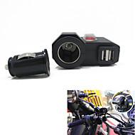 Недорогие Запчасти для мотоциклов и квадроциклов-12V-24V водонепроницаемый мотоциклы Dual USB зарядное устройство cigerrete легче с переключателем + двойной розетки USB