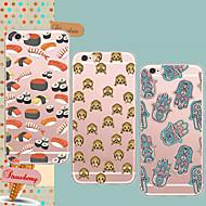 Varten iPhone 5 kotelo Ultraohut / Läpinäkyvä / Kuvio Etui Takakuori Etui Laattakuvio Pehmeä TPU iPhone SE/5s/5
