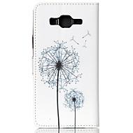 Недорогие Чехлы и кейсы для Galaxy J-Кейс для Назначение SSamsung Galaxy Кейс для  Samsung Galaxy Бумажник для карт Кошелек со стендом Флип С узором Чехол одуванчик Кожа PU