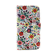 fargerik blomst pu skinn lommebok full body sak for ipod touch 5/6