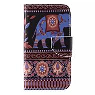 Для Кейс для  Samsung Galaxy Бумажник для карт / Кошелек / со стендом / Флип / С узором Кейс для Чехол Кейс для Слон Искусственная кожа