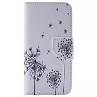 Недорогие Чехлы и кейсы для Galaxy S6 Edge Plus-Кейс для Назначение SSamsung Galaxy Кейс для  Samsung Galaxy Бумажник для карт Кошелек со стендом Флип Чехол одуванчик Кожа PU для S6