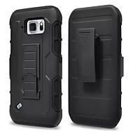 Недорогие Чехлы и кейсы для Galaxy S-Для Кейс для  Samsung Galaxy Защита от пыли / Защита от удара / Водонепроницаемый / со стендом Кейс для Задняя крышка Кейс для