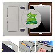 お買い得  -ケース 用途 iPad Air 2 カードホルダー スタンド付き オートオン/オフ フルボディーケース 純色 本革 のために iPad Air 2