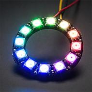 halpa Arduino-tarvikkeet-ws2812 5050 rgb 12 johtamien pyöreä lamppu Development Board - musta