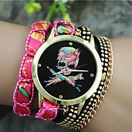 Недорогие Женские часы-Жен. Часы-браслет Модные часы Кварцевый Повседневные часы Материал Группа Кулоны Черный Белый Синий Оранжевый Фиолетовый Роуз