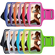 billige Mobilcovers-For Med vindue Armbånd Etui Armbånd Etui Helfarve Blødt Tekstil for Universal iPhone 7 Plus iPhone 7 iPhone 6s Plus/6 Plus iPhone 6s/6