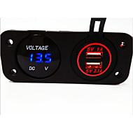 Недорогие Автомобильные зарядные устройства-цифровой вольтметр и Dual USB автомобильное зарядное устройство, новые продукты, с водонепроницаемым функции.