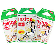 New Fujifilm Instax Mini Film 30 sheets Plain Edge Instant Photo for Camera Mini 7s 8 25 50s 90