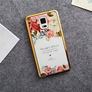 お買い得  携帯電話ケース-ケース 用途 Samsung Galaxy Samsung Galaxy Note パターン バックカバー フラワー TPU のために Note 5 Note 4