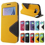 Назначение Samsung Galaxy Note7 Чехлы панели Бумажник для карт со стендом Флип Чехол Кейс для Сплошной цвет Твердый Искусственная кожа для