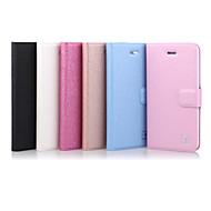 billige -Etui Til iPhone 5 Apple Etui iPhone 5 Kortholder med stativ Flipp Heldekkende etui Helfarge Hard PU Leather til iPhone SE/5s iPhone 5