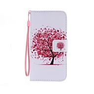Для Кейс для  Samsung Galaxy Бумажник для карт / Кошелек / со стендом / Флип / С узором Кейс для Чехол Кейс для дерево Искусственная кожа