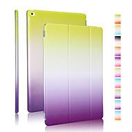 hyvä laatu PU nahka sateenkaaren kaltevuus kotelo iPad 4/3/2