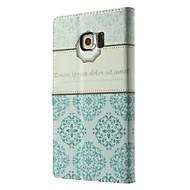 Недорогие Чехлы и кейсы для Galaxy S6 Edge Plus-Кейс для Назначение SSamsung Galaxy Кейс для  Samsung Galaxy Бумажник для карт Кошелек со стендом Флип Чехол Цветы Кожа PU для S8 Plus S8