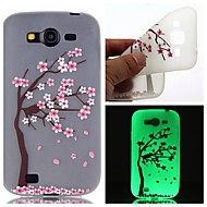 Voor Samsung Galaxy hoesje Glow in the dark / Patroon hoesje Achterkantje hoesje Bloem TPU SamsungOn 7 / On 5 / J3 / J1 Ace / Grand Prime